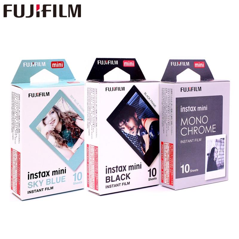 Fujifilm Instax Mini8 Film Monochrome Mono Black Frame Sky Blue Film Photo For Mini 7 8
