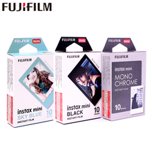 Fujifilm Instax Mini8 Film Monochrome Mono + Black Frame Sky Blue Photo For Mini 7 8 9 25 70 90 Camera SP-1 SP-2