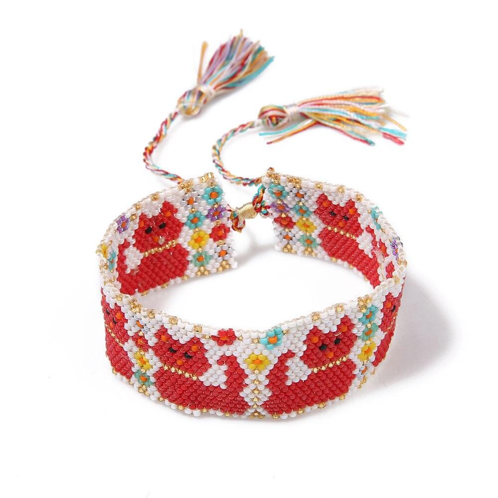 Go2boho cuentas encanto pulseras mujeres tejido y trenzado pulsera ...