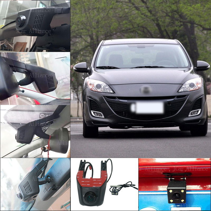 BigBigRoad For mazda 3 Car Parking Camera APP control Car Wifi DVR HD 1080P Dual Camera Car Black Box camcorder no damage to car bigbigroad for toyota sequoia car parking camera app control car wifi dvr video recorder dual lens car black box camcorder