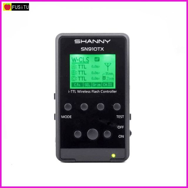 Shanny SN910TX 2.4G Wireless Radio Signal System 1/8000S AF Assist-focus i-TTL Speedlite Transmitter for Nikon Shanny SN910EX-RF