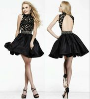 Black Lace Short Homecoming Dress Cocktail Formal Party Dresses