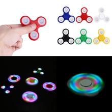 2017 Hot Sale Tri-spinner Fidget Spinner LED Hand Spinners Educational Toys Spinner Hand Anti Stress Toys For Children Adults