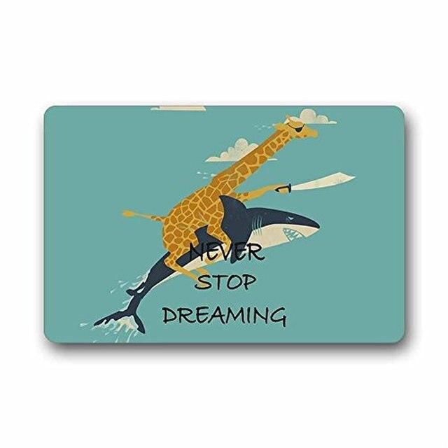 Speicher Hause Benutzerdefinierte Giraffe Reiten Shark Nie Aufhören ...