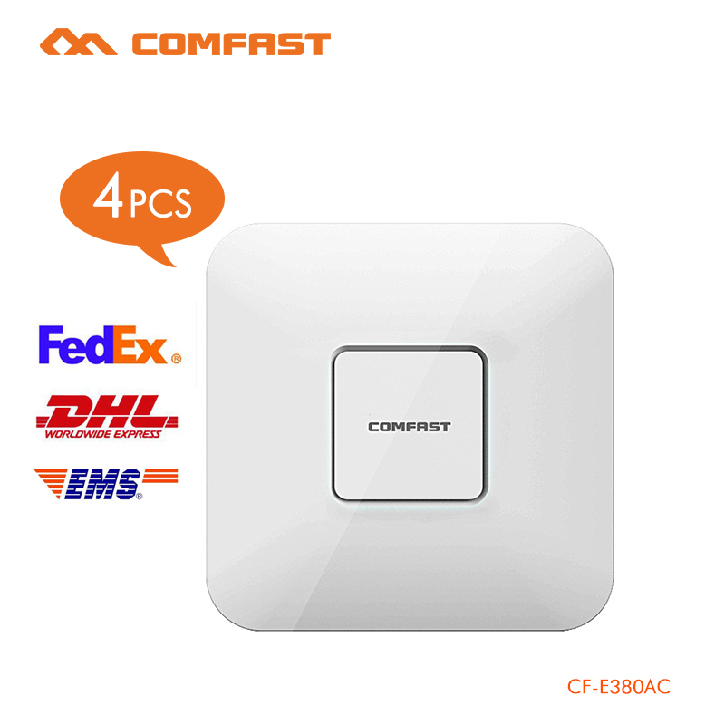 4PCS COMFAST 1750Mbps wifi router 2.4G + 5.8G Wifi Repeater Access Point wireless AP support 200 users open DD WRT CF-E380AC