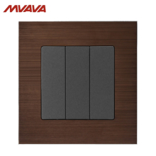 MVAVA 16A Light Switch 3 Gang 1/ 2 Way Lamp Wall Push Button EU/UK Standard Alumimum Brusted Control AC 220V Free Shipping