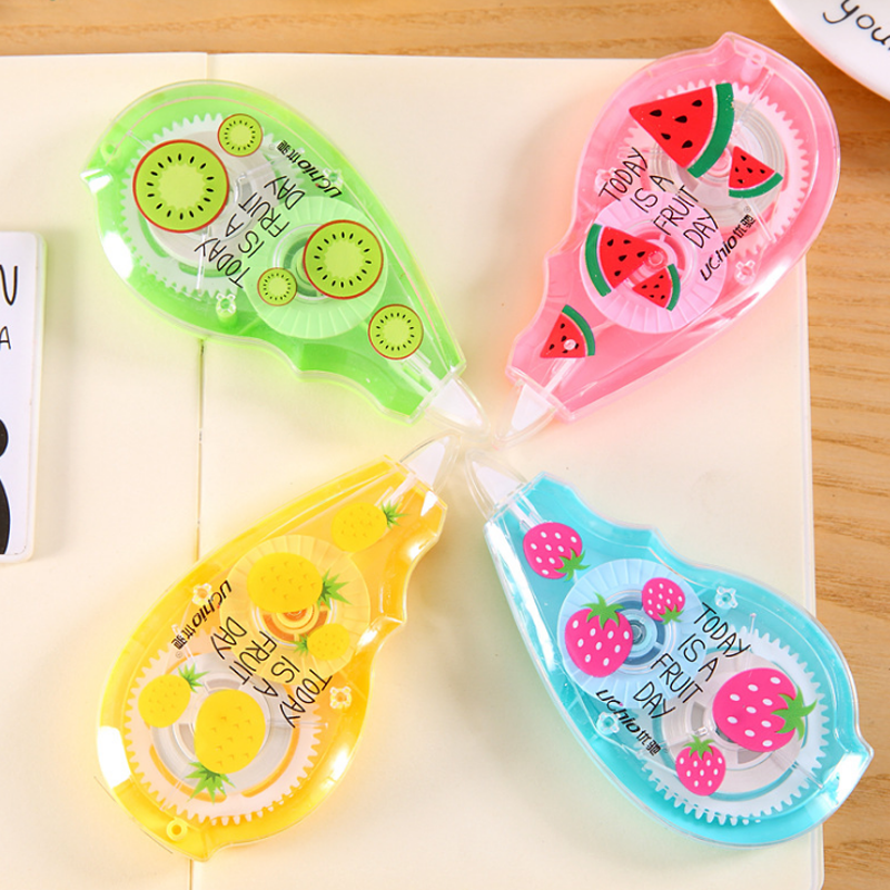 1 Pcs Cute Fruit Watermelon Strawberry Pineapple Kiwi Correction Tape School Office Supply Student Stationery Corrector Tapes