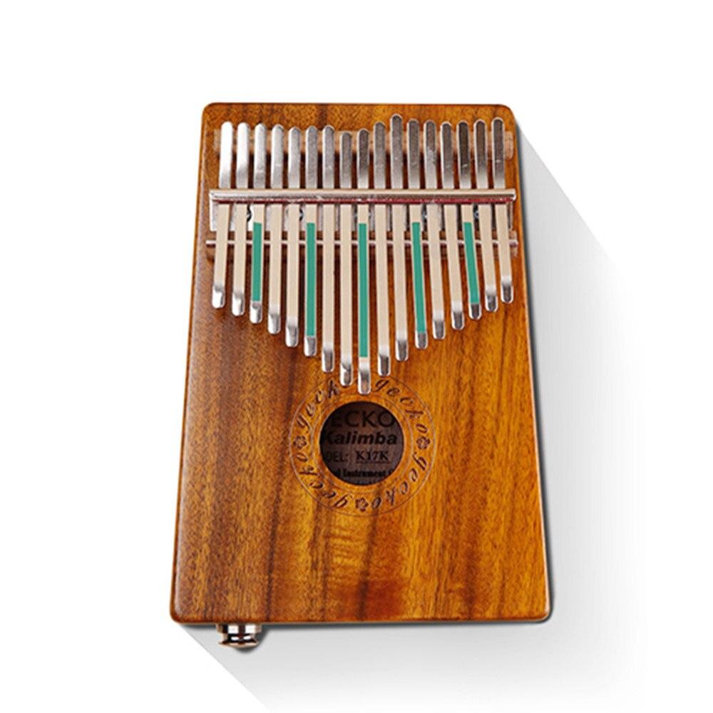Kalimba 17 Clé Batterie Percussion Clavier instruments de musique Piano à pouces Doigt Marimba Tambour Africain Acajou Poche Taille Clés