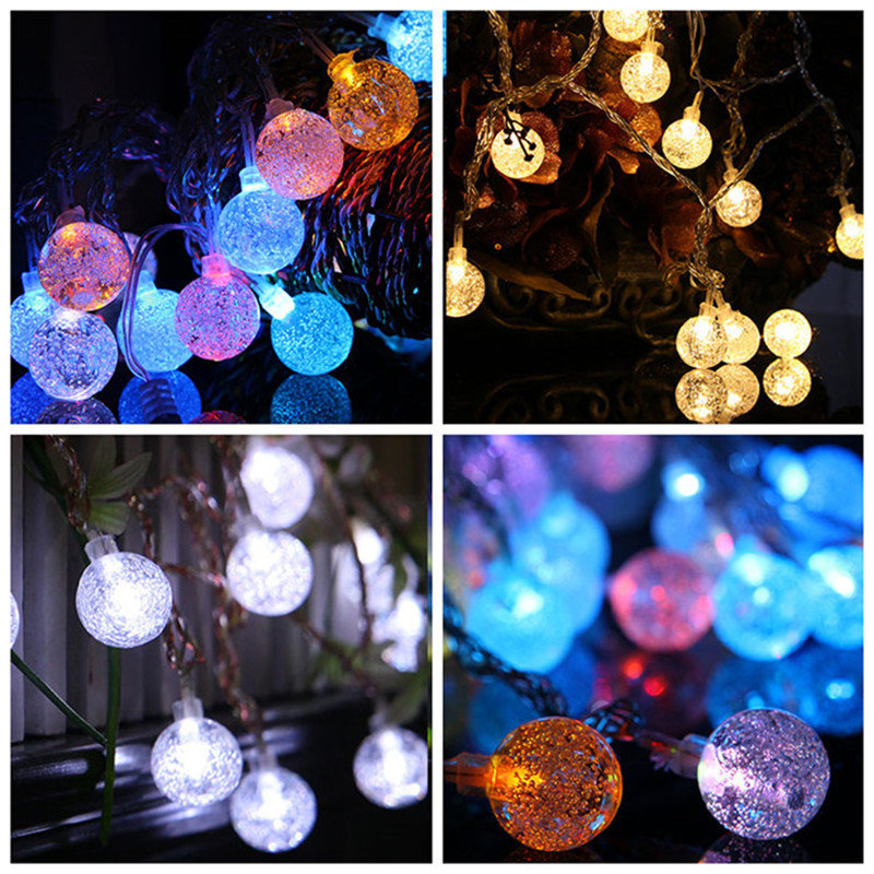 5M 28LED Bubble Ball Luces de la secuencia Luces de hadas del LED para el Festival de Navidad Halloween Globe festivel lights Festoon Luces de fiesta