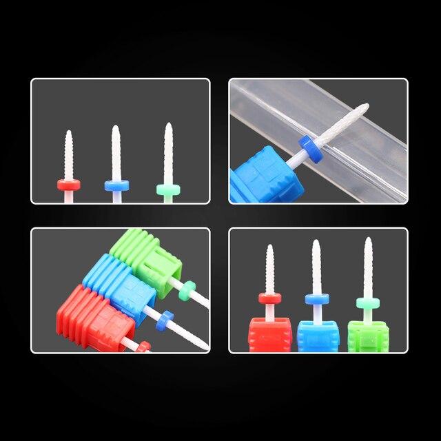 Ceramic Milling Cutter Nail Drill Bits Manicure Machine Ceramic Cutters For Manicure Ceramic Milling Cutter Pedicure Manicure 3