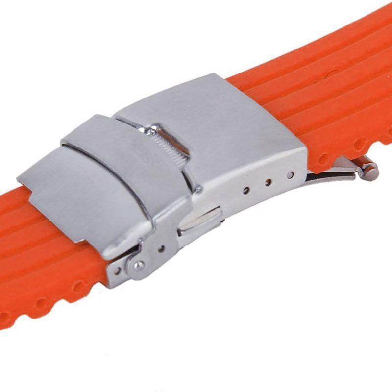 Cauciuc siliconic 16,18, 20, 22, 24mm Curea de desfășurare a - Accesorii ceasuri - Fotografie 4