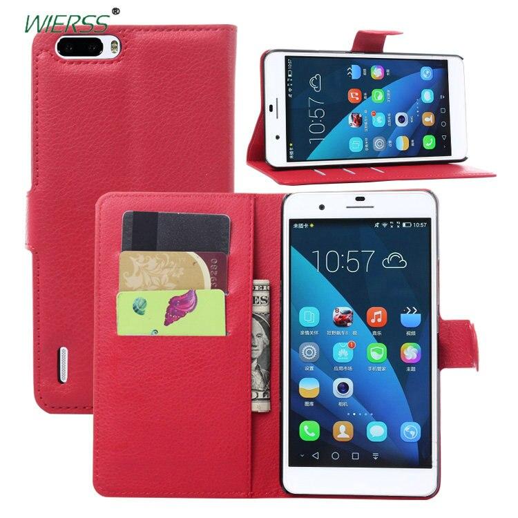 Для Huawei Honor 6 Plus Бумажник Флип кожаный чехол для Huawei Honor 6 плюс 5,5 дюймов телефон кожаный чехол с подставкой Etui>