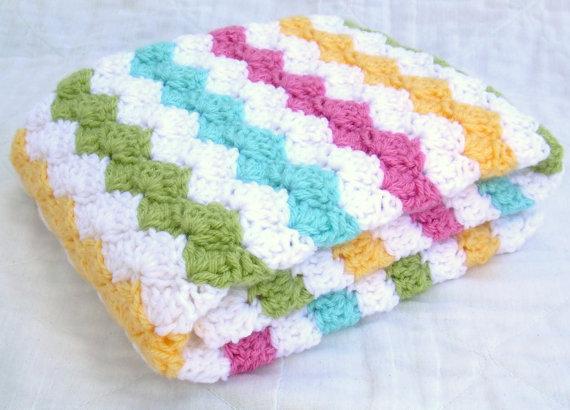 Cobertor do bebê de crochê, Carnaval, Para, Rosa, Ervilha doce, Amarelo, E água, Viagem