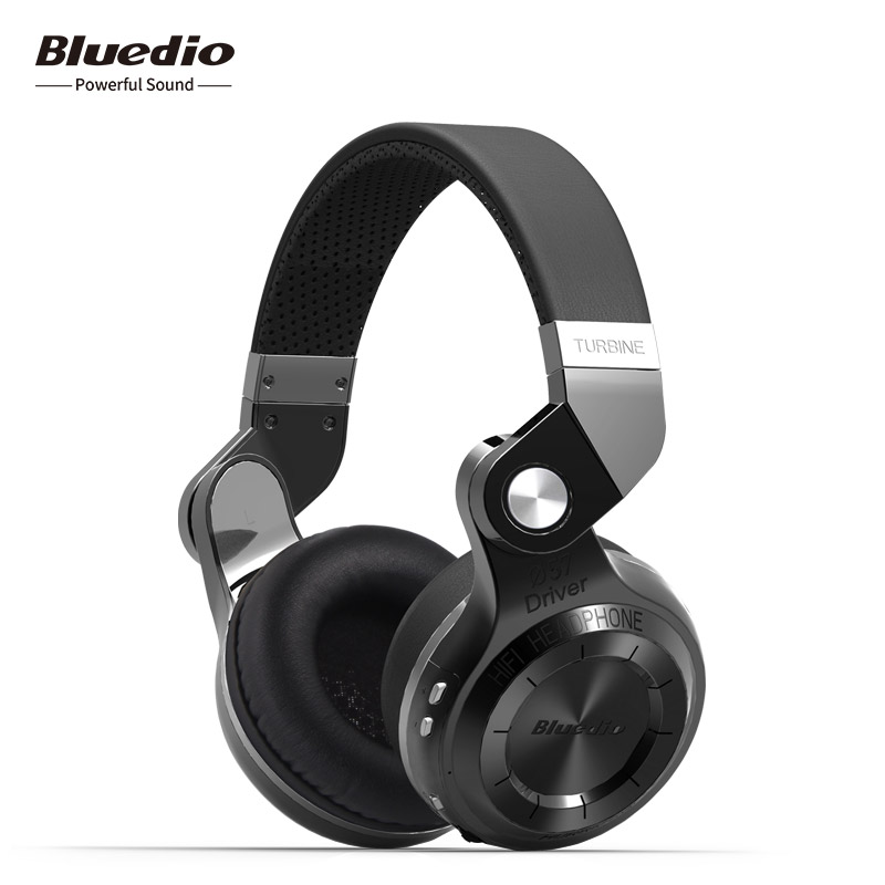 2018 New Real Earphone Bluedio T2S(shooting Brake) Bluetooth Stereo Headphones Wireless 4.1 Headset On-ear with Mic for Phones