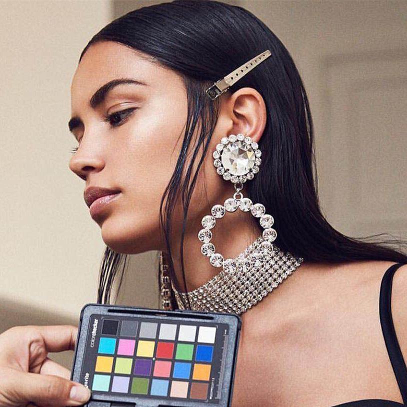 Gematigd Shiny Rhinestone Ketting Met Hart Bedels Dangle Oorbellen Voor Vrouwen Mode-sieraden Bruiloft Bruids Verklaring Oorbellen Accessoires Zo Effectief Als Een Fee Doet