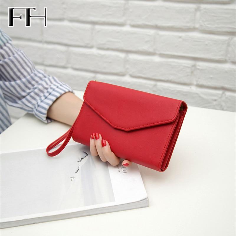 Hot Unisex Leather Long Wristlet Wallet lady Clutch Multifunction big capacity purse key Phone Passport Women Men's Business bag