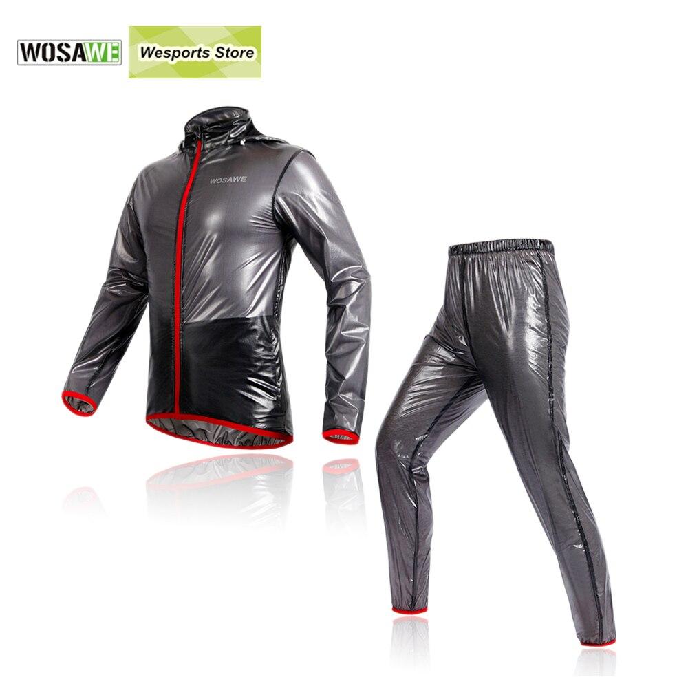 Prix pour WOSAWE Sport Costumes Multifonction Pluie Vestes Coupe-Vent Imperméable TPU Imperméable VTT Vélo Vélo Jersey Vêtements de Cyclisme