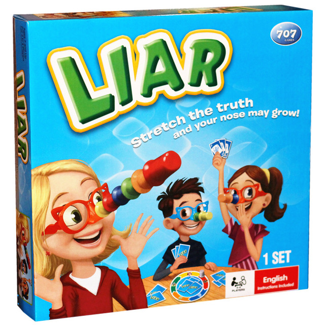 Liar board game bragging competition long nose younger player card game for children logical thinking play image