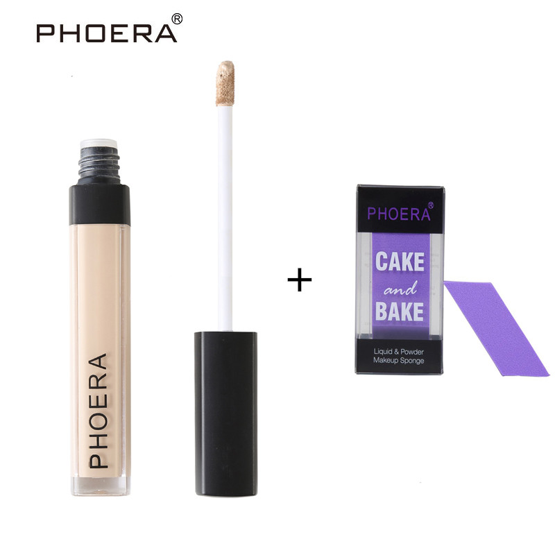 PHOERA Repair Complexion Concealer Foundation Full Cover Base Primer Cosmetic Liquid Foundation Silky Long Lasting Maquiagem