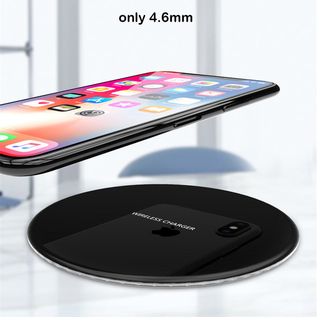 R-Just Metal Wireless Charger For Samsung galaxy S8 S9 Plus Note8 Slim Fast Wireless Charging For iPhone X 8 Plus Charger Pad