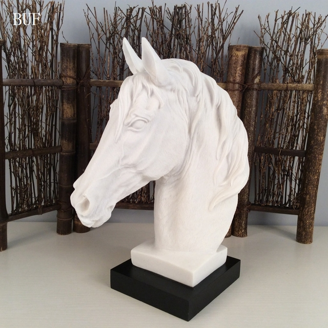 buf modern abstract horse head statue sculpture resin ornaments home decoration accessories. Black Bedroom Furniture Sets. Home Design Ideas