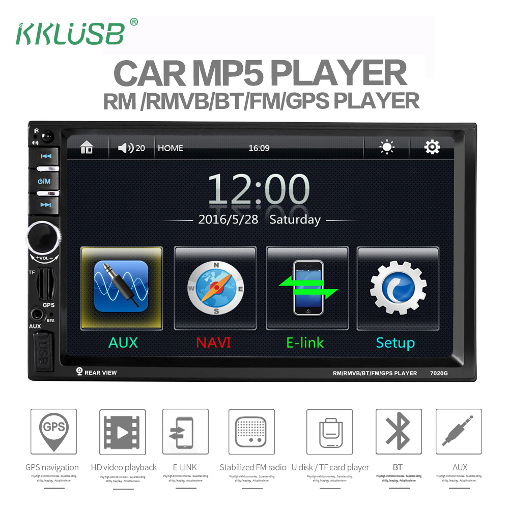 Auto Parts Coupons >> 7020G double 2 DIN car audio auto radio bluetooth player 12V 7 inch Touch Screen autoradio 2din ...