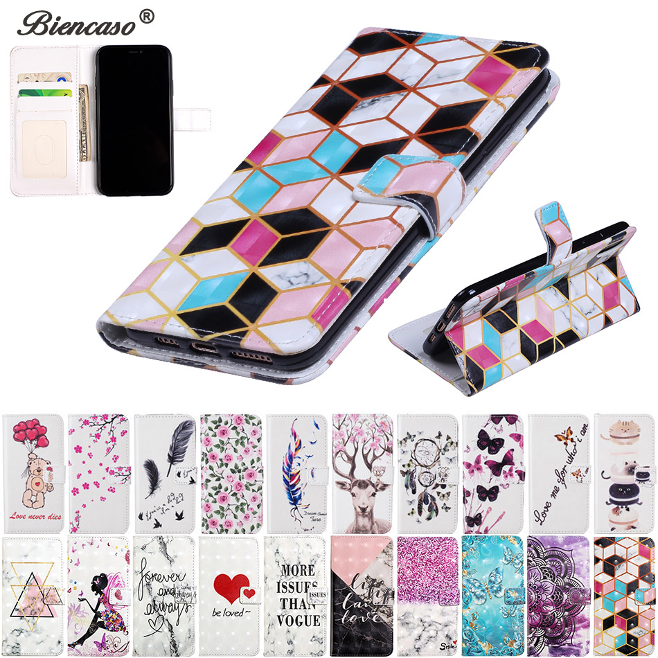 Flower PU Leather <font><b>Case</b></font> For iPhone 8 7 Plus 6 6S Plus 5 5S SE Wallet Bag For iPhone XS Max XR X Card Slot Phone Back Cover B146 image