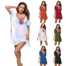 Cover Up Beach Long Mayokini Summer Suit Wear For Women Dress Bathing Ups Dedicated Original New Outdoor Swimsuit Playa