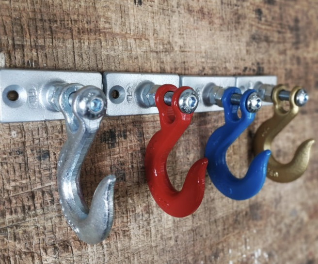 Image 3 - 1pcs/lot 110x70mm. Industrial alloy hook retro style clothing hook-in Hooks & Rails from Home & Garden