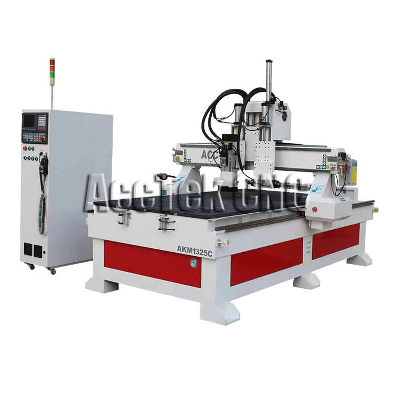 Special Design Horizontal Wood Engraving Optional 1325 Atc Wood Cnc Router AKM1325C