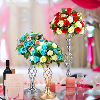 Home Hotel Table Centerpiece metal flower vase flowers balls stand Candlesticks pillar Metal road lead display flower Holder