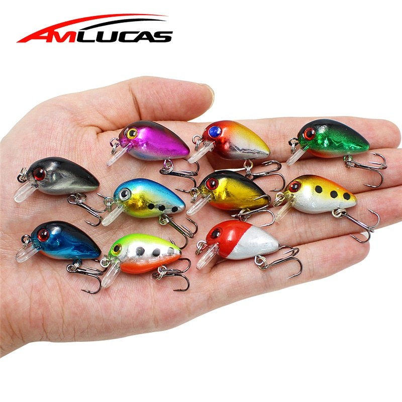 купить Amlucas Crankbait Fishing Lure 30mm 1.6g 3D Eyes Minnow Wobblers Peche Isca Artificial Bait Topwater Fishing Tackle WW309 по цене 41.46 рублей