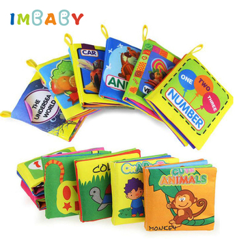 IMBABY Cloth Baby Book Intelligence Development Educational Toy Soft Cloth Learning Cognize Books For 0-12 Month Kids Quiet Book
