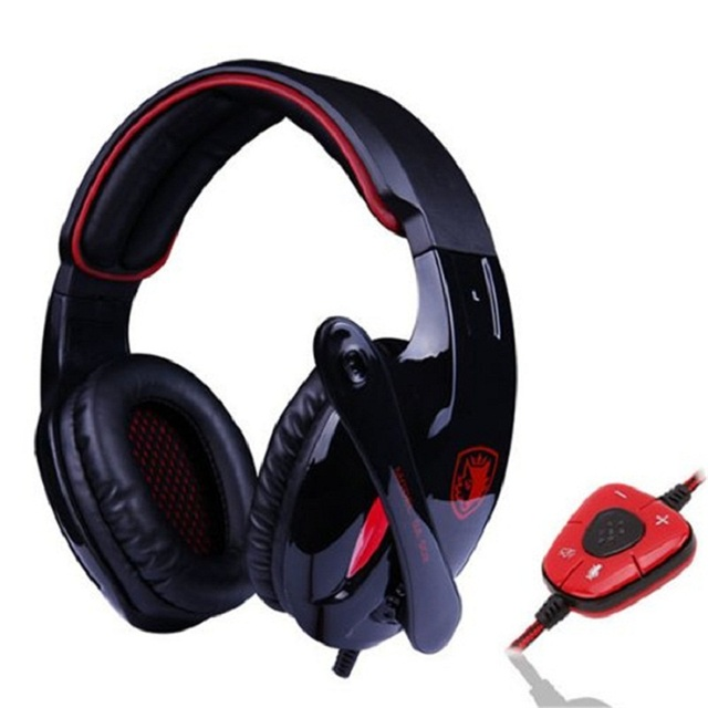 Marca Sades SA 902 Headset 7.1 Canais de Som Surround USB Professional Gaming Fones De Ouvido Graves Profundos com Microfone para PC Gamer preto
