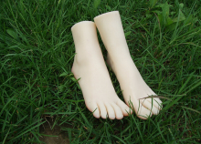 NEW small size young girls foot feet whitening skin foot feet of young girls model,silicone feet model
