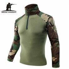 Mege Männer Militär Armee Tactical Combat Shirt Camouflage USMC Soldat Military Stil Langarm Schlacht Hemd Airsoft Kleidung