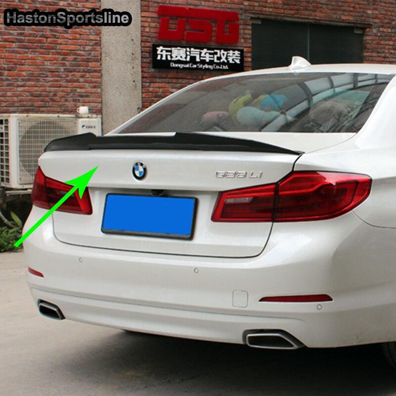 G30 530i 540i Modifié PSM Style Fiber De Carbone Arrière Bagages Compartiment Spoiler Aile De Voiture Pour BMW G30 2017UP