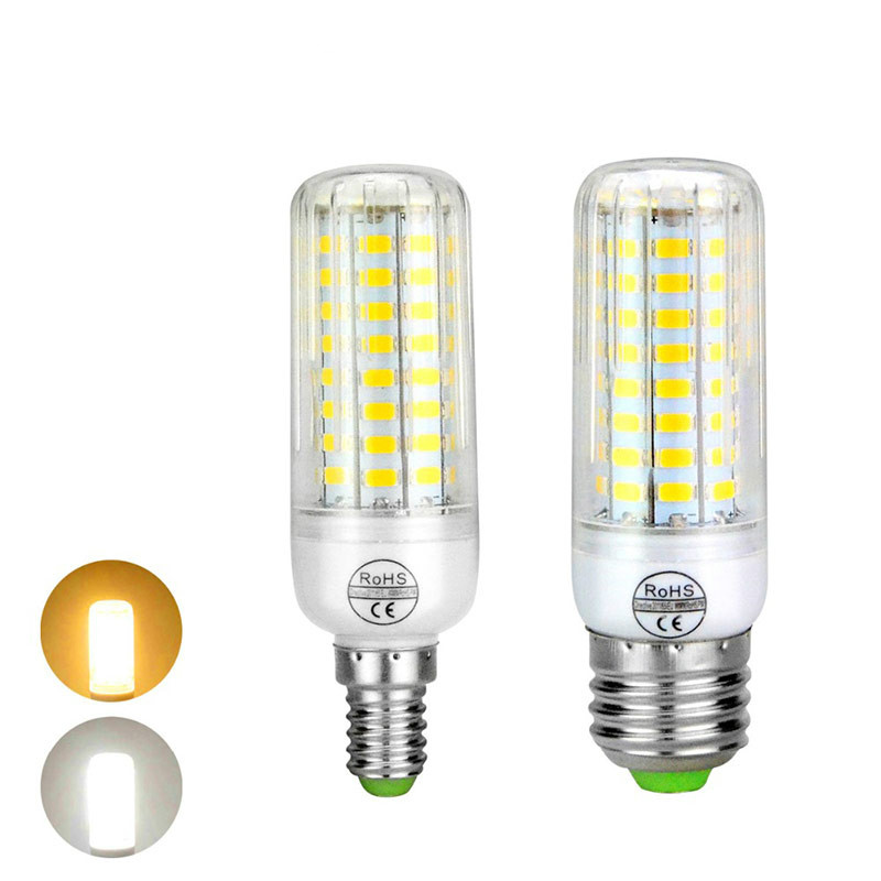 E27 E14 220V LED Corn bulb lamp High heat PCB Cooling 24 / 30 / 64 / 80 LEDs light Bulb For Indoor home decor light & lighting