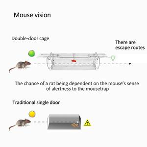 Image 4 - Inteligentne drzwi humanitarny na żywo pułapka na mysz zwierząt mysz klatka szczur mysz myszy pułapki domowe małe gryzonie zwierzęta do wewnątrz na zewnątrz