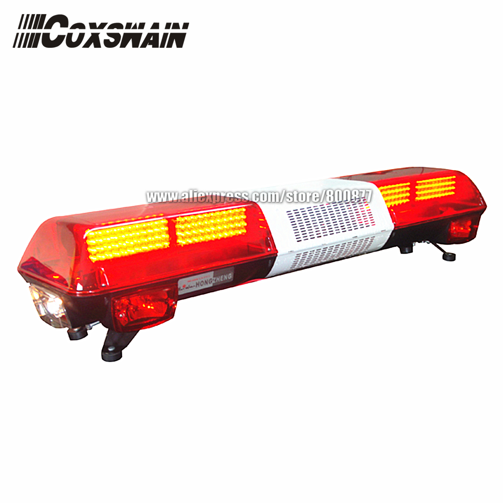 TBD GA 05525C Car LED Lightbar for Fire Truck warning light, PC lens, DC12V, 48 length LED emergency light bar