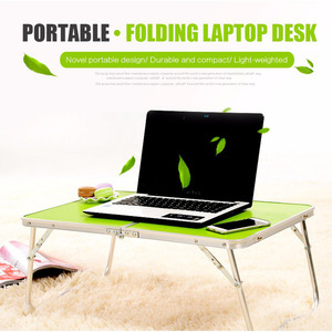 Image 2 - Portable Computer Picnic Desk Camping Folding Table Laptop Desk Stand PC Notebook Bed Tray Laptop Table Bureau Meuble