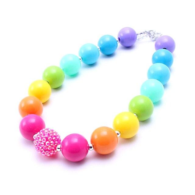 Regenbogen Farbe Kinder Regenbogen reihe Klobigen Kaugummi Perlen ...