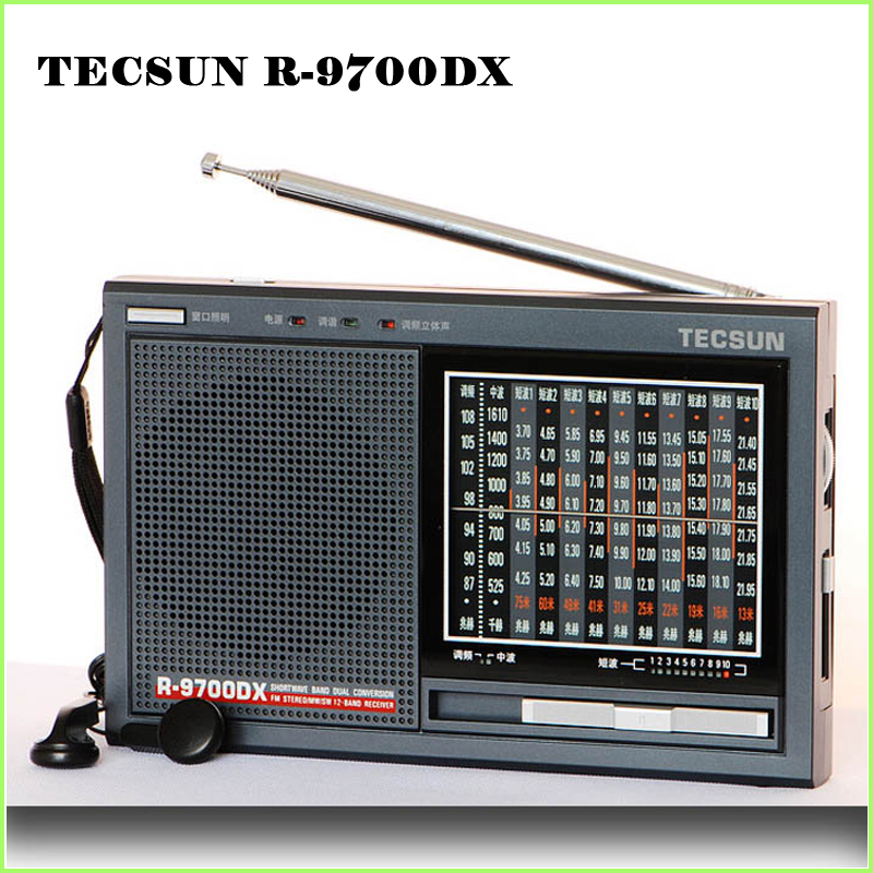Radio Stetig Tecsun R-9700dx Original Garantie Sw/mw Hohe Empfindlichkeit Welt Band Radio Receiver Mit Lautsprecher Kostenloser Versand Hohe Belastbarkeit
