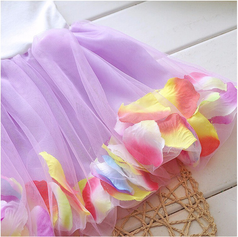 2016 Summer Newborn Infant Flower Dress Sleeveless Patchwork Petal Pattern Toddler Infant Clothes Dress Floral Round Neck (4)