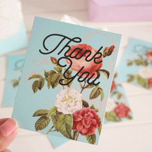 """Hot sale Thanksgiving festival greeting card """"thank you"""" card Mother's Day Father's Day Leave Message small card"""