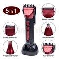 Kemei 5 em 1 lavável navalha barbeador elétrico aparador multifuncional Conjunto Máquina de Cortar cabelo Máquina De Barbear Dos Homens Orelha & Nariz Aparador de Pêlos 635