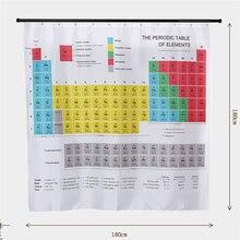 Горячее предложение новая таблица элементов занавески для ванной комнаты s Водонепроницаемый 3D принт занавески для душа белая ткань занавески для ванной