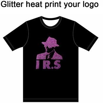 Venta al por mayor de película de transferencia de calor brillante/personalizado su logotipo en camisetas polvo fluorescente Flex película de calor Impresión de vinilo en la ropa