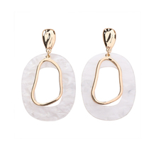 fcfd57efd 2018 Hot New Design Style Acrylic Geometric Dangle Shell Earrings For Lady  Vintage Fashion Jewelry Sweety