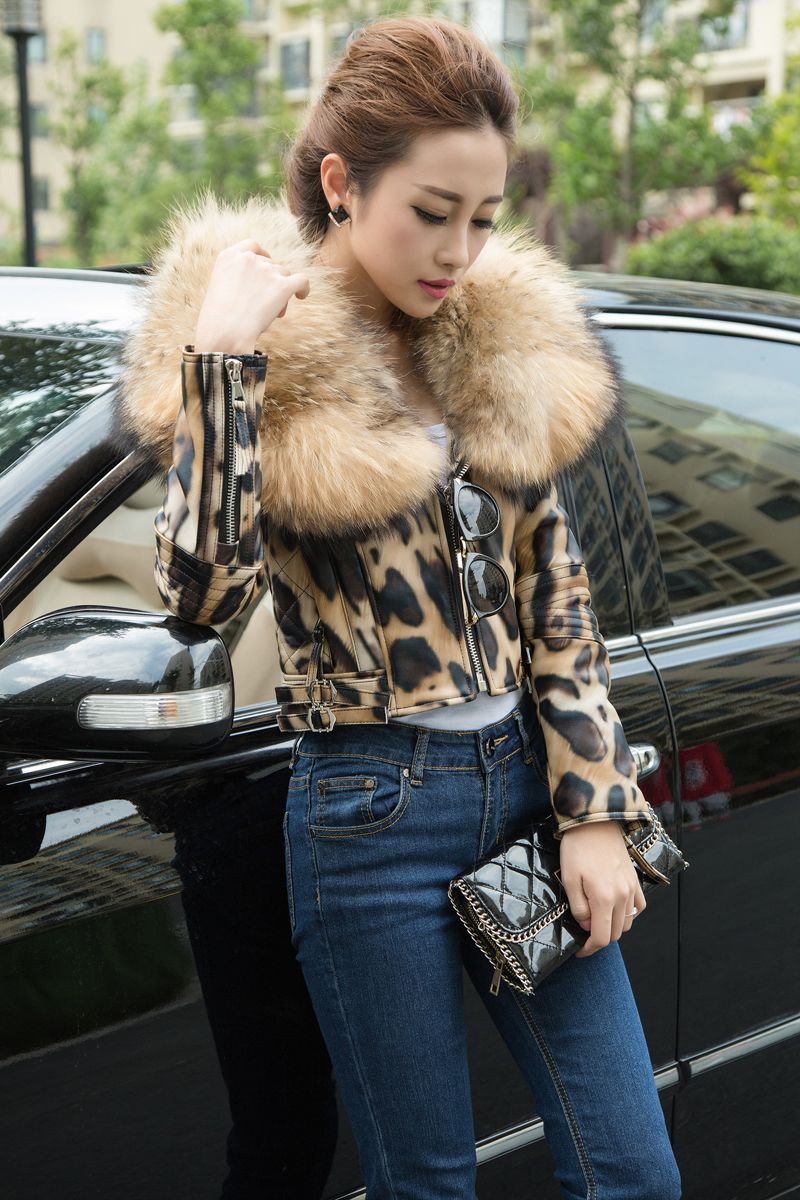 leopard color jacket genuine sheepskin (4)